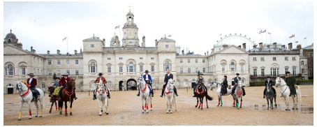 All The Queens Horses with iconic London backdrop